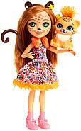 Лялька Энчантималс Гепард Чериш і Квік Квік Enchantimals Cherish Cheetah Doll with Quick-Quick, фото 4