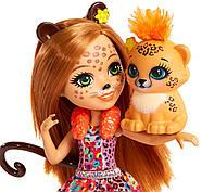 Лялька Энчантималс Гепард Чериш і Квік Квік Enchantimals Cherish Cheetah Doll with Quick-Quick, фото 5