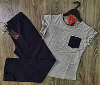 Женская пижама футболка и штаны, красивая одежда для дома.