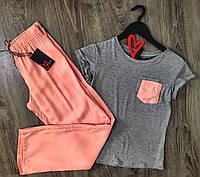 Легка піжама футболка і штани, комплект одягу для дому.