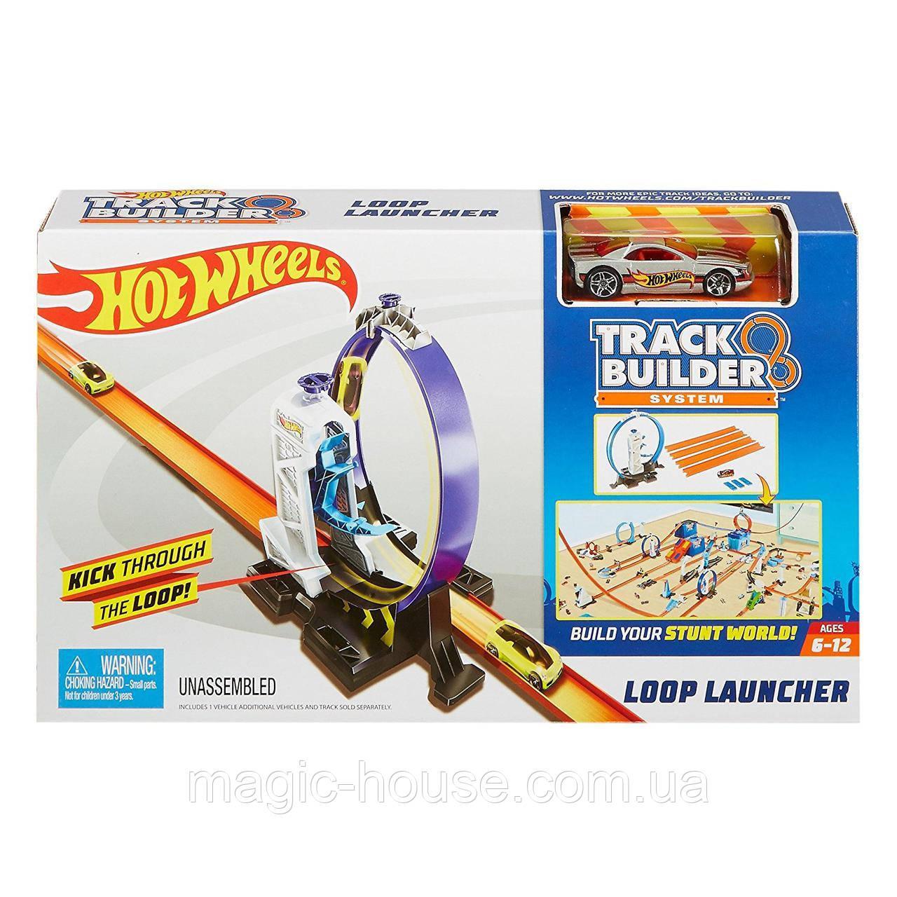 Трек Хот Вилc Петля для строительства супер трека Hot Wheels Track Builder Loop Launcher