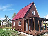 Дачный дом 6*6, 2 этажа  плюс терраса