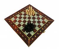 Шахматы 28A 3в1(шашки,нарды), в кульке, 27,5-14-3,5см (C)