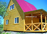 Дачний будинок 6*6, 2 поверхи плюс тераса, фото 10