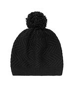 Женская оригинальная черная шерстяная  шапка UGG