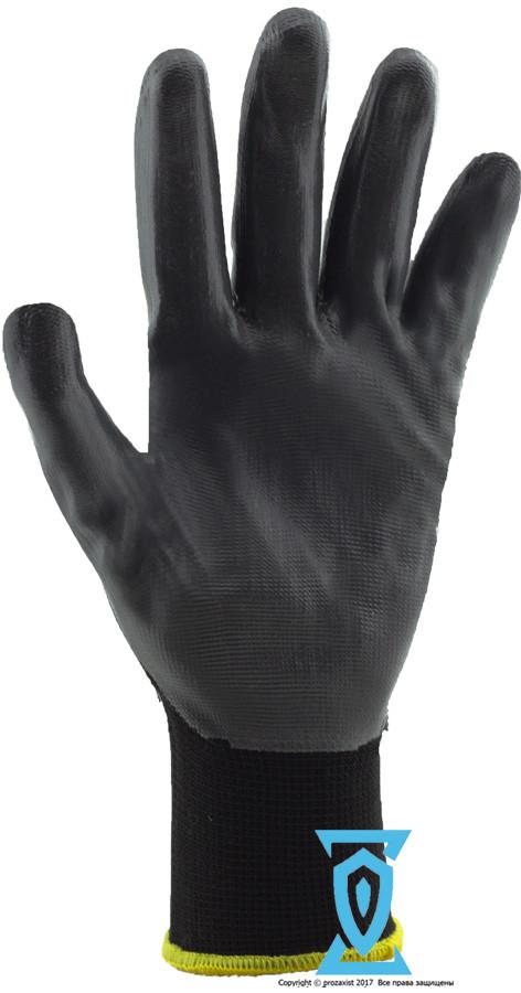 """Перчатки рабочие стрейчевая покрытая гладким нитрилом """"OX-Nitricar"""" (Reiss)"""