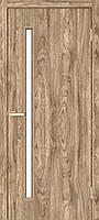 Двери межкомнатные Омис Т 01 со стеклом, цвет дуб ориндж