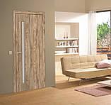 Двери межкомнатные Омис Т 01 со стеклом, цвет дуб ориндж, фото 2