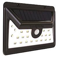 Уличный светильник  24 LED на солнечной панели с датчиком движения Black