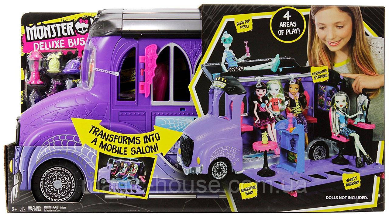 Monster High Шкільний автобус і салон Deluxe Bus and Mobile Salon Toy Playset