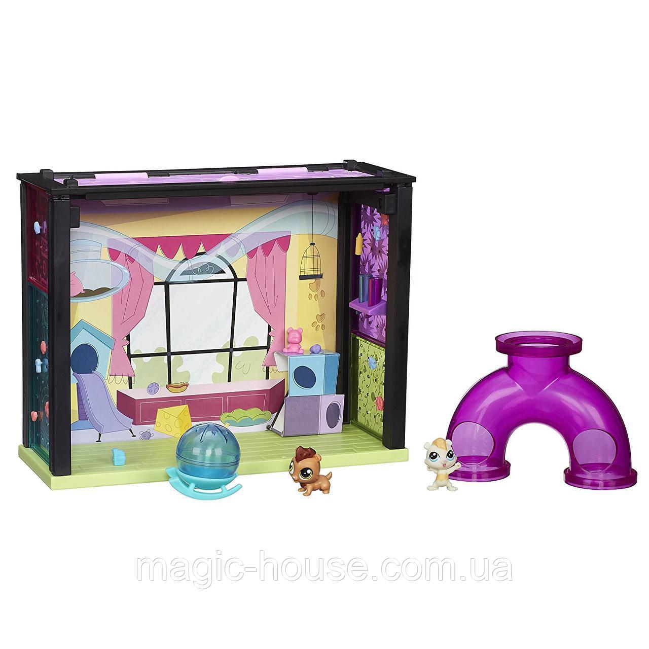 Littlest Pet Shop Игровой набор Стеклянная комната Mаленький ЗоомагазинЛитл Пет Шоп Pet-acular Fun Room Style