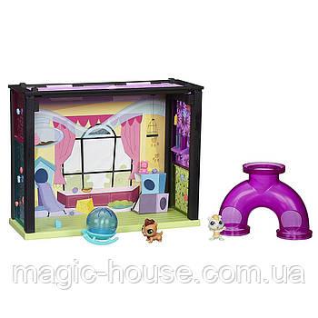 Littlest Pet Shop Ігровий набір Скляна кімната Маленький Зоомагазин Литл Пет Шоп Pet-acular Fun Style Room