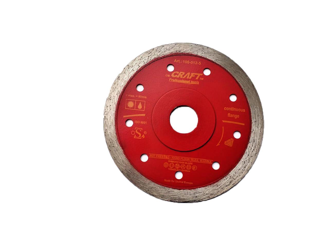 12-5 Диск алм. Craft гарячого пресування із суцільним різцем та фланцем 125*22,2*1,2/1,5*10мм