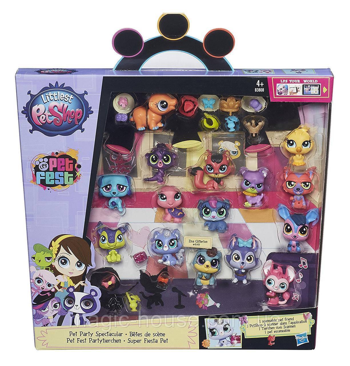 Коллекционный набор Littlest Pet Shop Маленький зоомагазин 15 зверюшек  Collector Party Pack