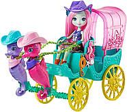 Игровой набор EnchantimalsКарета с морскими коньками Sandella Seahorse, Friends and Western-Styled Coach, фото 6