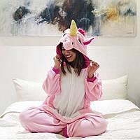 Женские кигуруми розовый единорог пижама kig0014