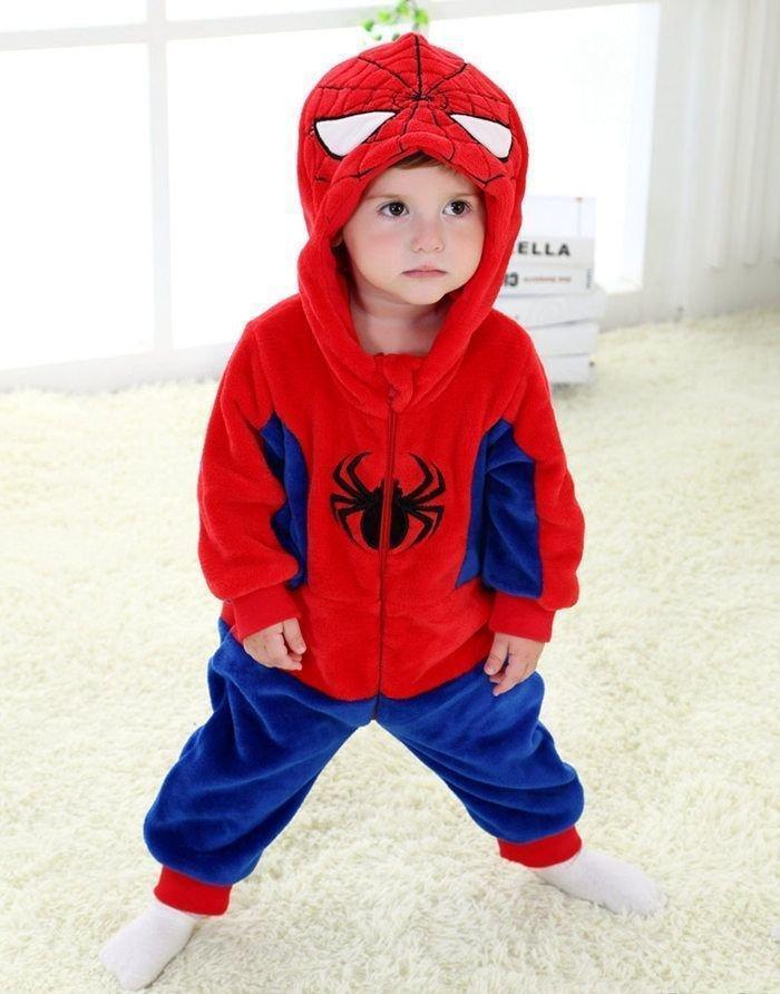 Кигуруми детский человек паук (спайдермен) kig0079