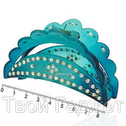 Краб для волос пластик 8.5см, разные цвета, упаковка 12шт