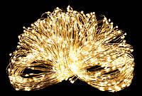 Светодиодная гирлянда нить LTL 18м 200led 220V Теплый золотистый