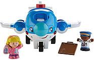 Самолет  Fisher Price Little People Travel Together Airplane Vehicle, фото 4