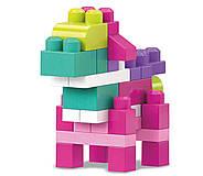 Мега Блокс Конструктор  80 деталей Розовый MEGA BLOKS FIRST BUILDERS BIG, фото 3