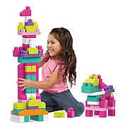 Мега Блокс Конструктор  80 деталей Розовый MEGA BLOKS FIRST BUILDERS BIG, фото 6