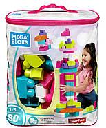 Мега Блокс Конструктор  80 деталей Розовый MEGA BLOKS FIRST BUILDERS BIG, фото 8