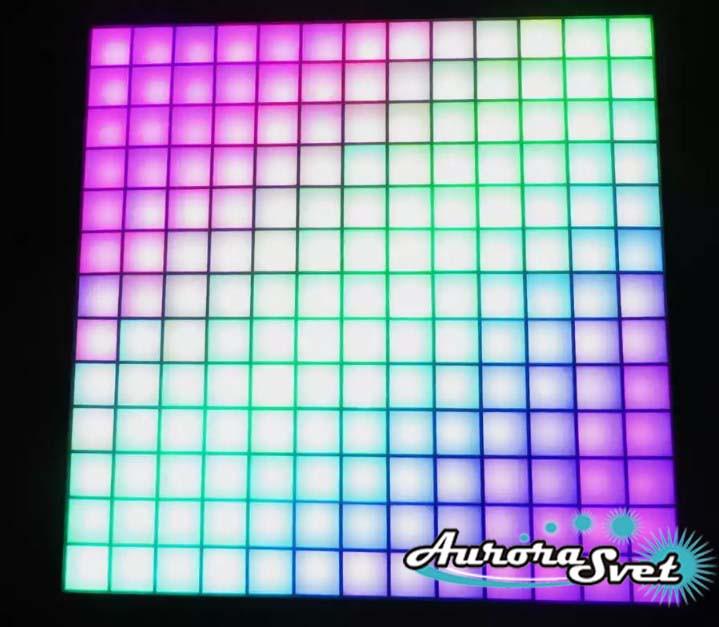 Светодиодная пиксельная панель напольная F-077-13*13-1-C