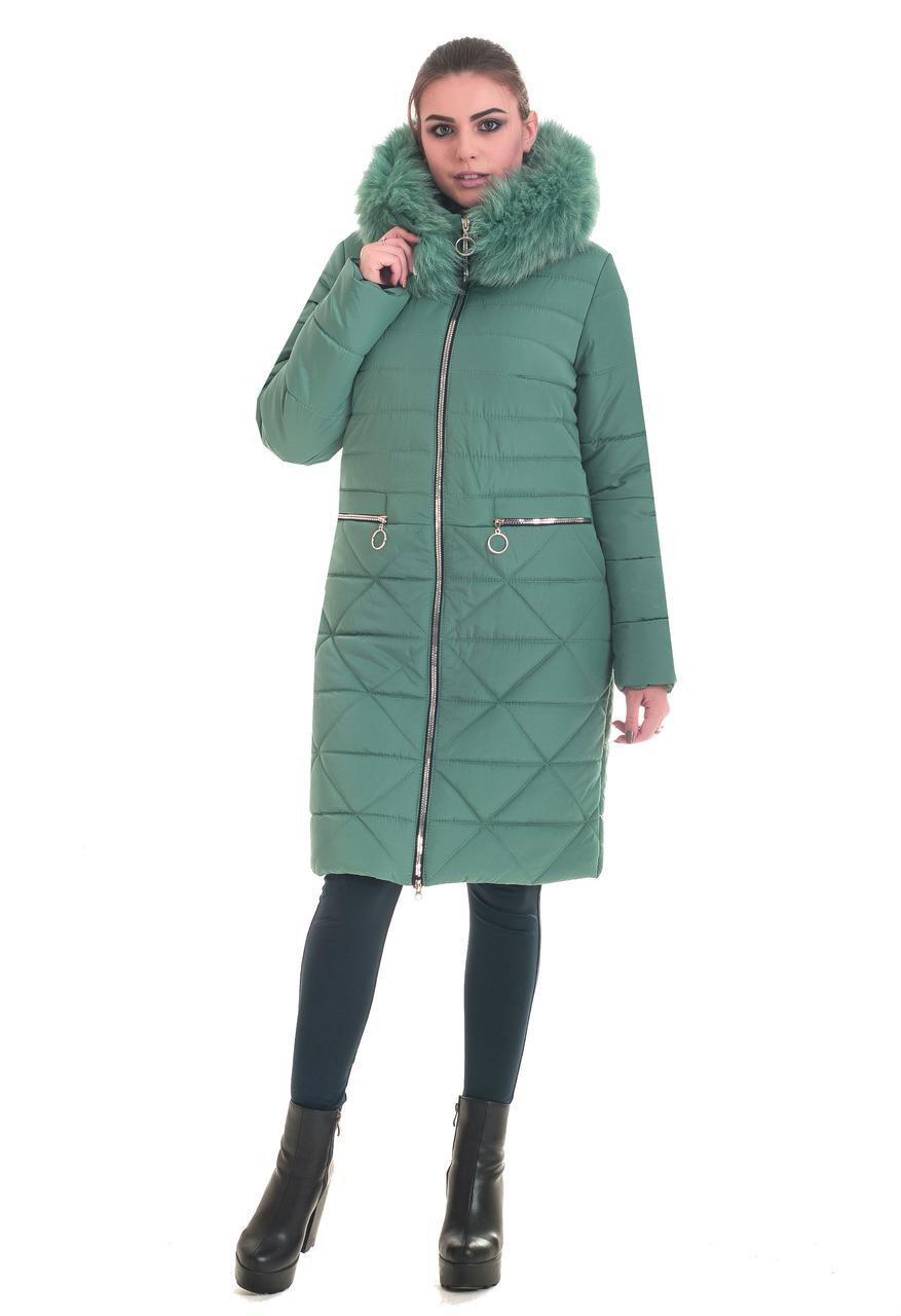 Зимние женские куртки молодежные 42,44,46,48,50 мята