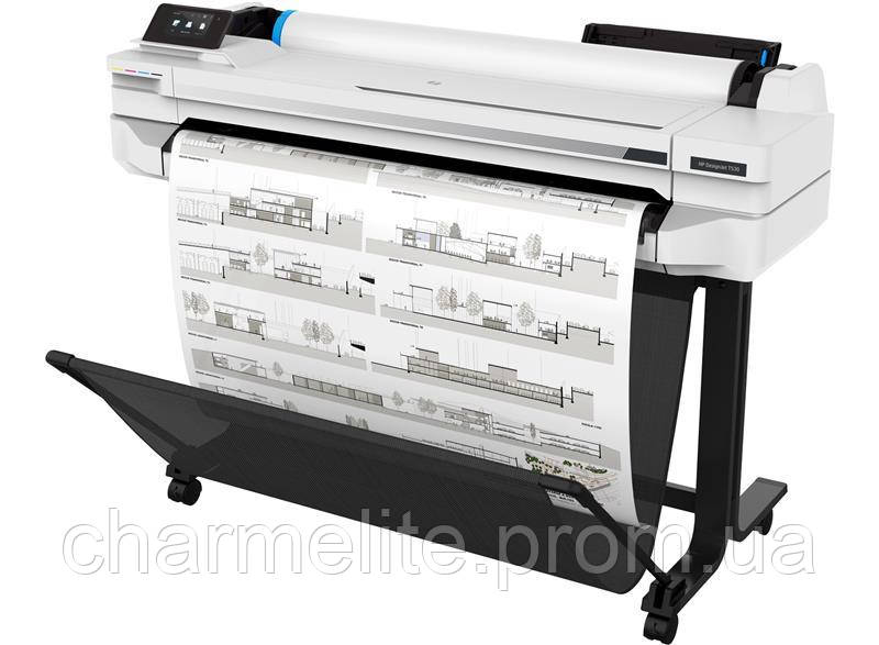 "Принтер HP DesignJet T530 36"" с Wi-Fi"