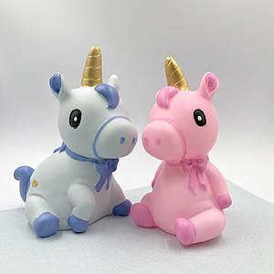 Детские копилки | Копилки для денег | Копилка Unicorn is sitting (выбор цвета)