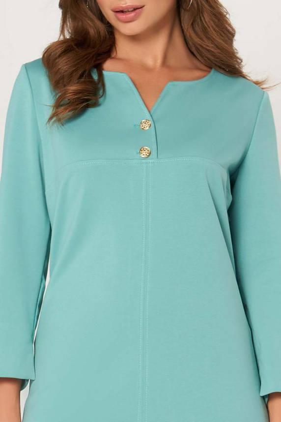 Трикотажное платье миди офисное мятного цвета, фото 2