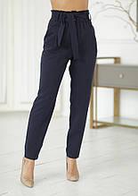 Жіночі модні брюки з завищеною талією вільного крою (р. 42-46).