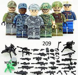 Фигурки Вооружённые силы США лего lego BrickArms swat военные