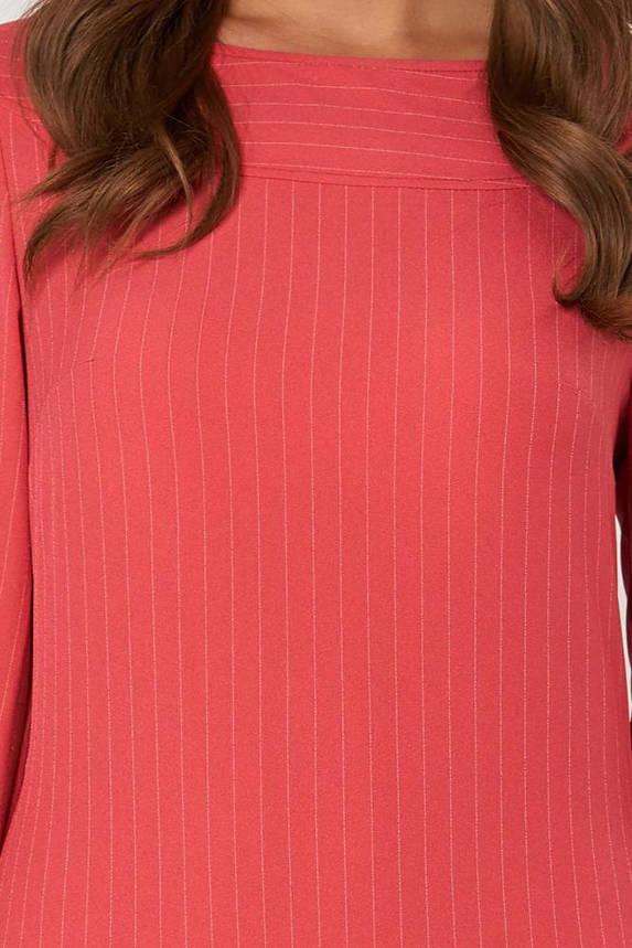 Модное платье мини офисное красного цвета, фото 2