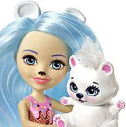 Игровой набор EnchantimalsФургончикмороженного и 2 куклы Прина Пингвина и Полярный медведь Лайла, фото 7