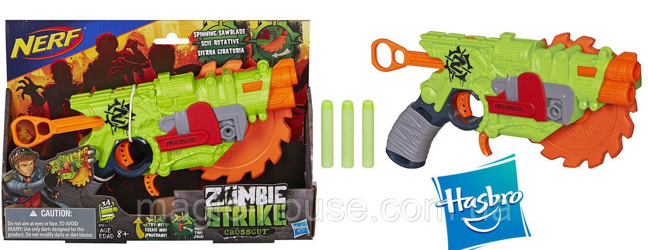 Бластер Нерф Зомбі Страйк Кросскат Nerf Zombie Strike Crosscut Blaster