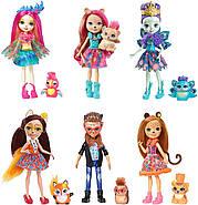 Игровой набор Энчантималс из 6 кукол  с питомцами Enchantimals Natural Friends Collection Doll, фото 2