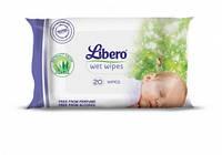 Детские влажные салфетки 20 шт Либеро Libero
