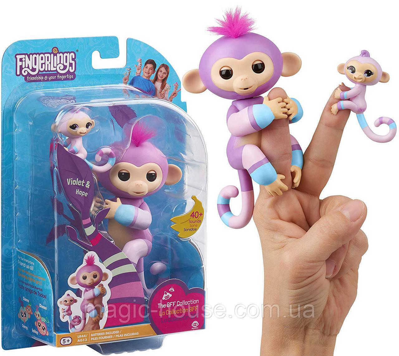 Интерактивная обезьянкаФингерлинг Виолета с малышкой Хопи ОригиналFingerlings Baby Monkey Violet & Hope