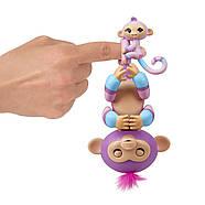Интерактивная обезьянкаФингерлинг Виолета с малышкой Хопи ОригиналFingerlings Baby Monkey Violet & Hope, фото 5