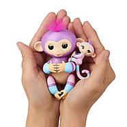 Интерактивная обезьянкаФингерлинг Виолета с малышкой Хопи ОригиналFingerlings Baby Monkey Violet & Hope, фото 6
