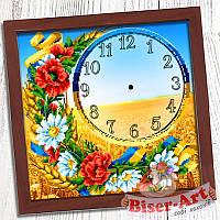 """Схема для вишивки """"Годинник для вишивки бісером """"Українське поле"""""""" (Biser Art 009)"""