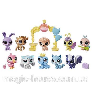 Ігровий набір Littlest Pet Shop 10 блискучих домашніх тварин Sparkle Spectacular Collection