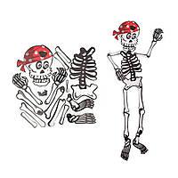 Декор настенный 85 см Скелет в бандане
