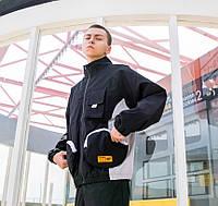 Куртка-ветровка черная мужская модная крутая спортивная от Skatepark Скейтпарк