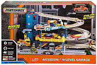 Трек Мега Гараж Метчбокс 4 этажа, Matchbox Mission: 4-Level Garage, CJM67, фото 1