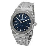 Часы Audemars Piguet Royal Oak 41mm (Механика ETA) Silver/Blue. Реплика: ELITE.