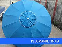 Зонт с клапаном 2,5м - 12спиц и серебренным напылением, фото 1