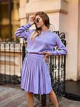 Женский вязаный костюм с юбкой плиссе (в расцветках), фото 6
